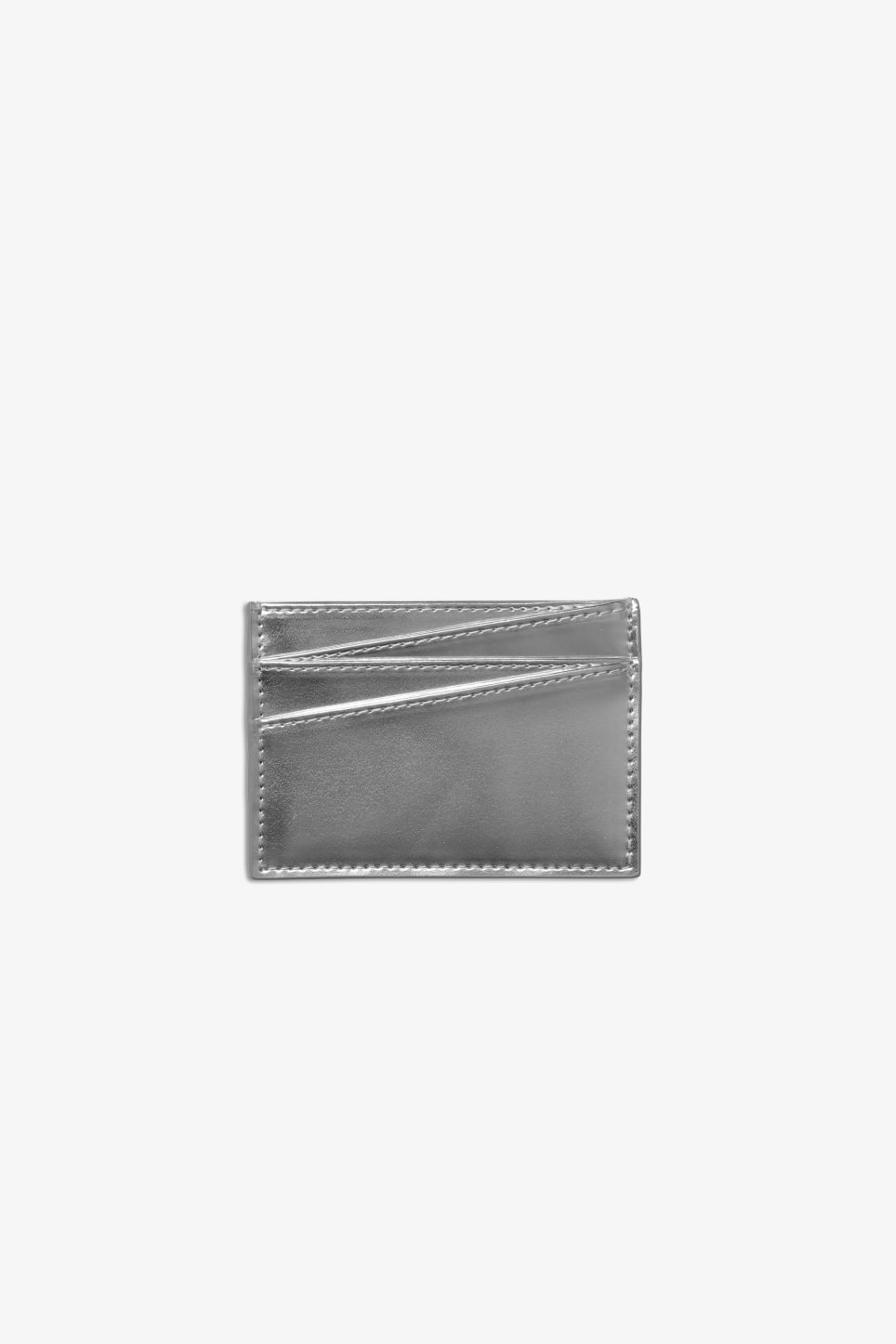 Front image of Monki card case in silver