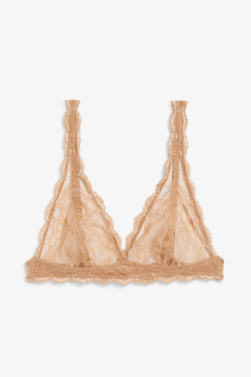 1d4f1ee8cc0ae Triangle lace bra - Brown nude - Underwear - Monki