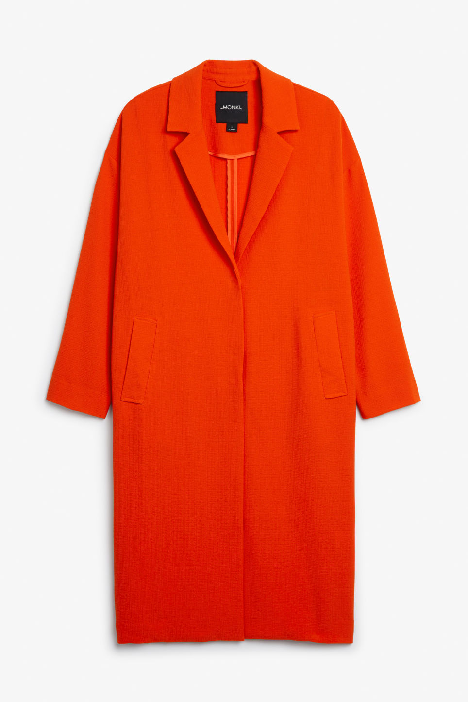 Front image of Monki lightweight coat in orange
