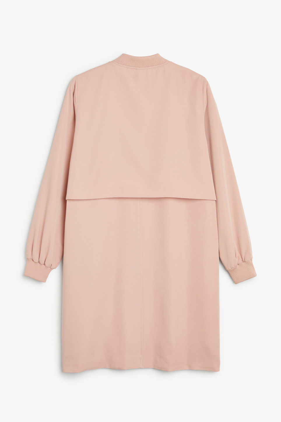 Back image of Monki long lightweight jacket in pink