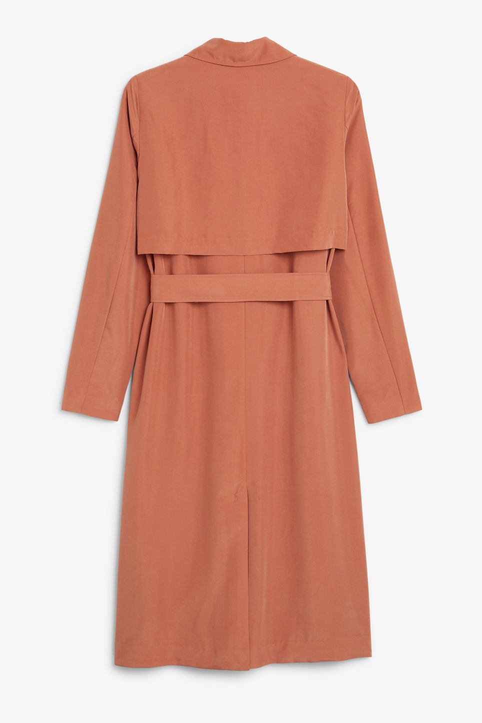 Back image of Monki lightweight trench coat in orange