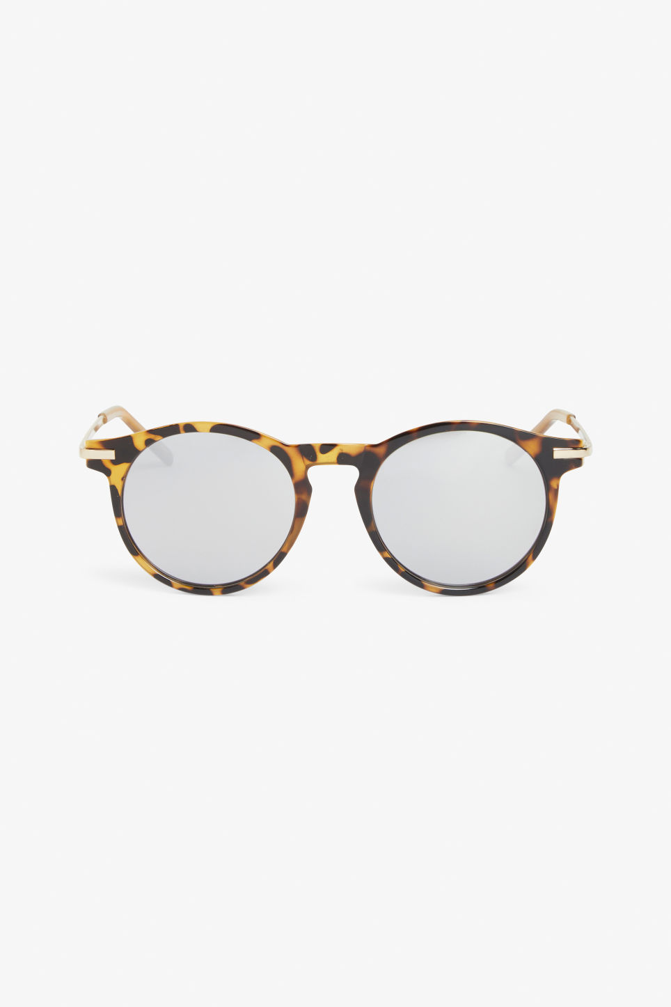 Front image of Monki round & retro sunglasses in brown
