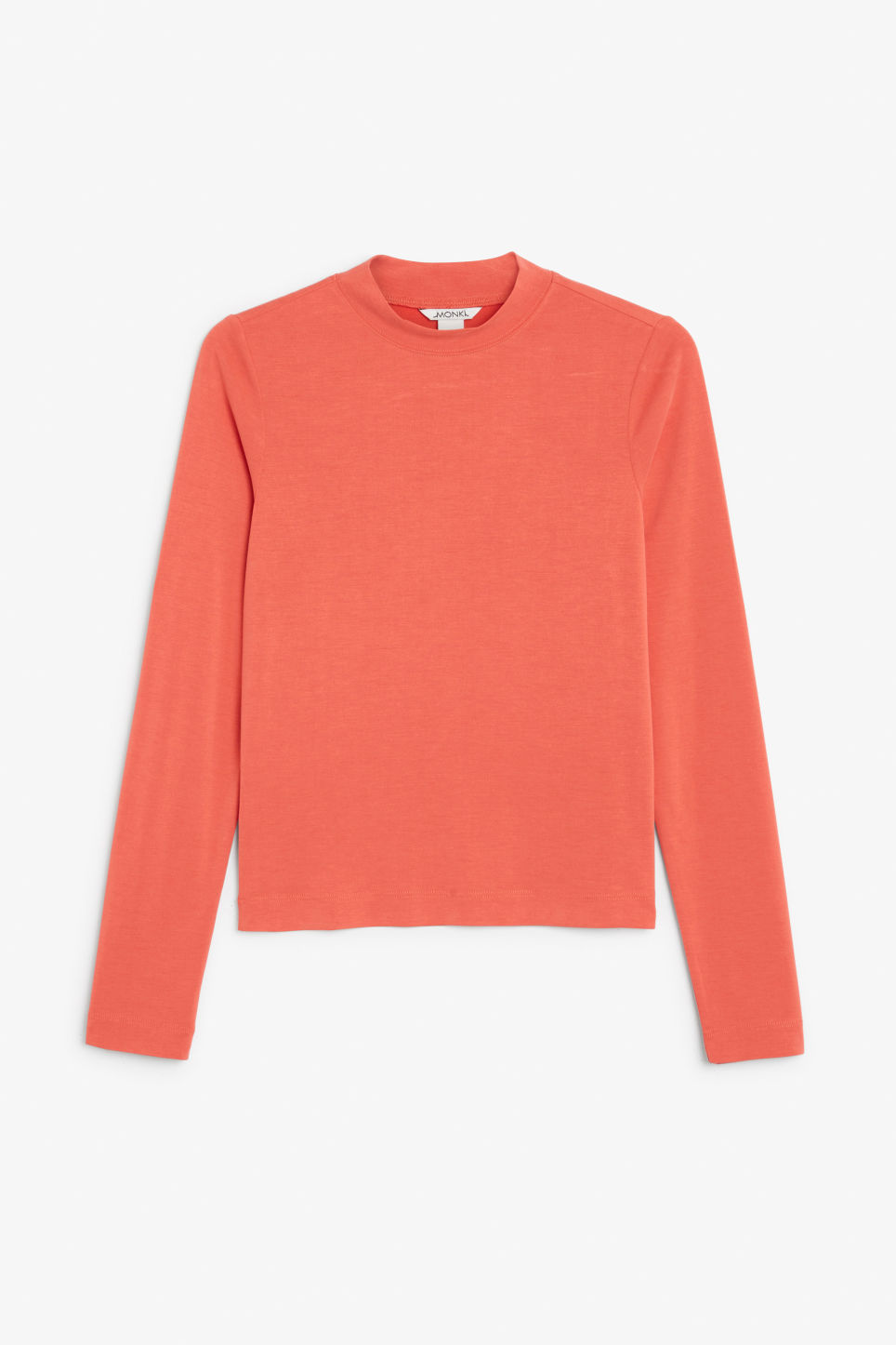 Front image of Monki super-soft long sleeve top in red