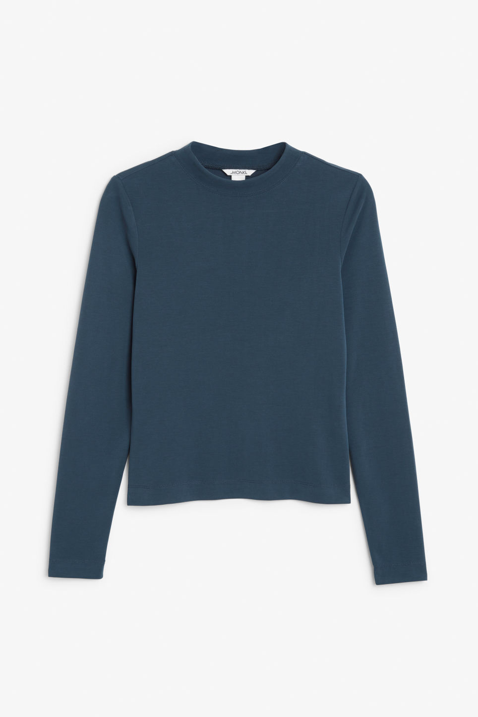 Front image of Monki super-soft long sleeve top in blue