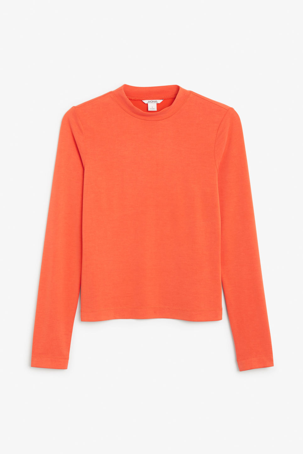 Front image of Monki super-soft long sleeve top in orange