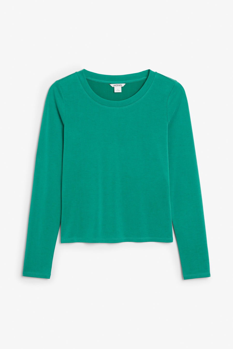 Front image of Monki super-soft long sleeve top in green