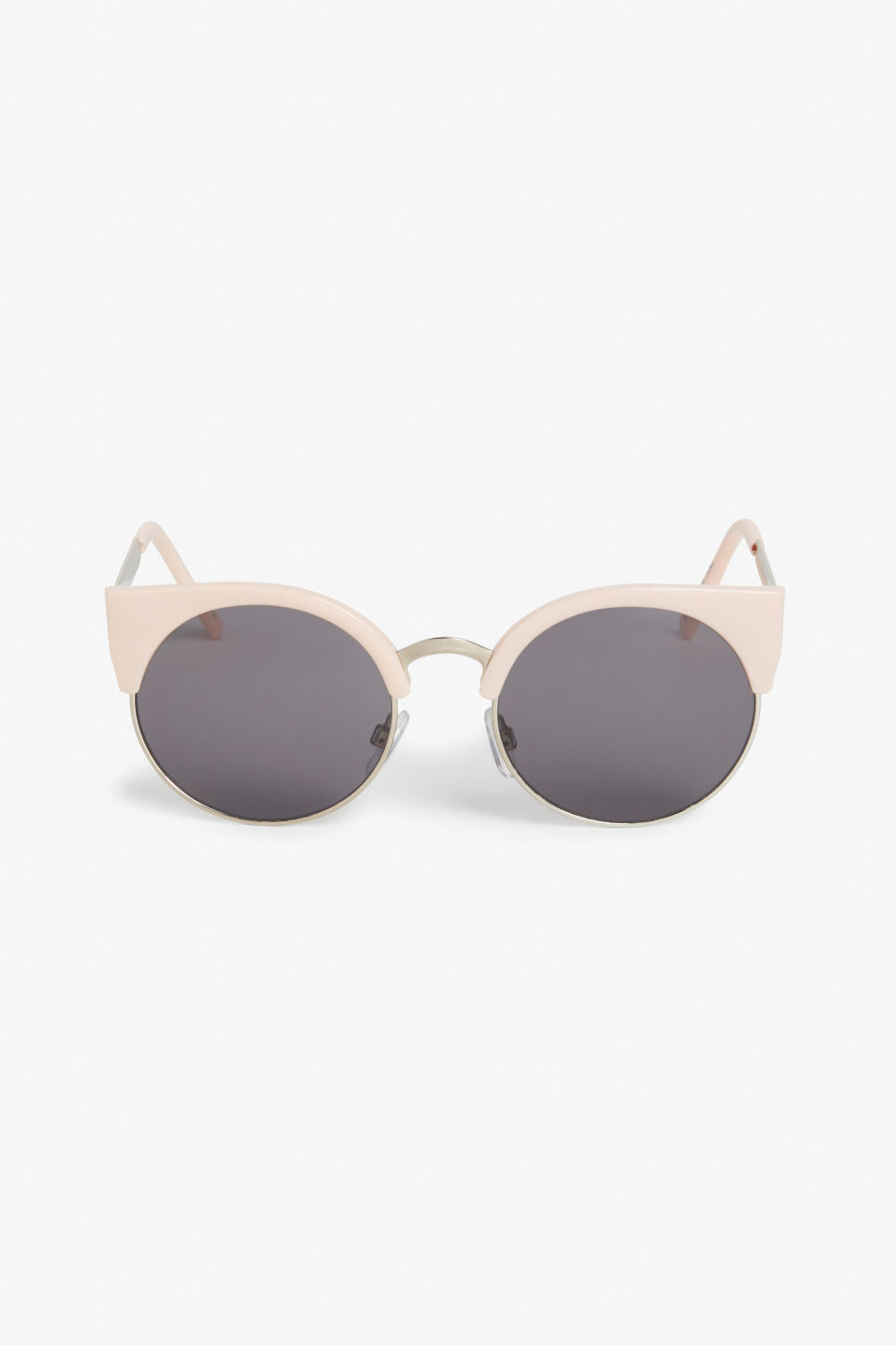 Front image of Monki cat-eye sunglasses in orange