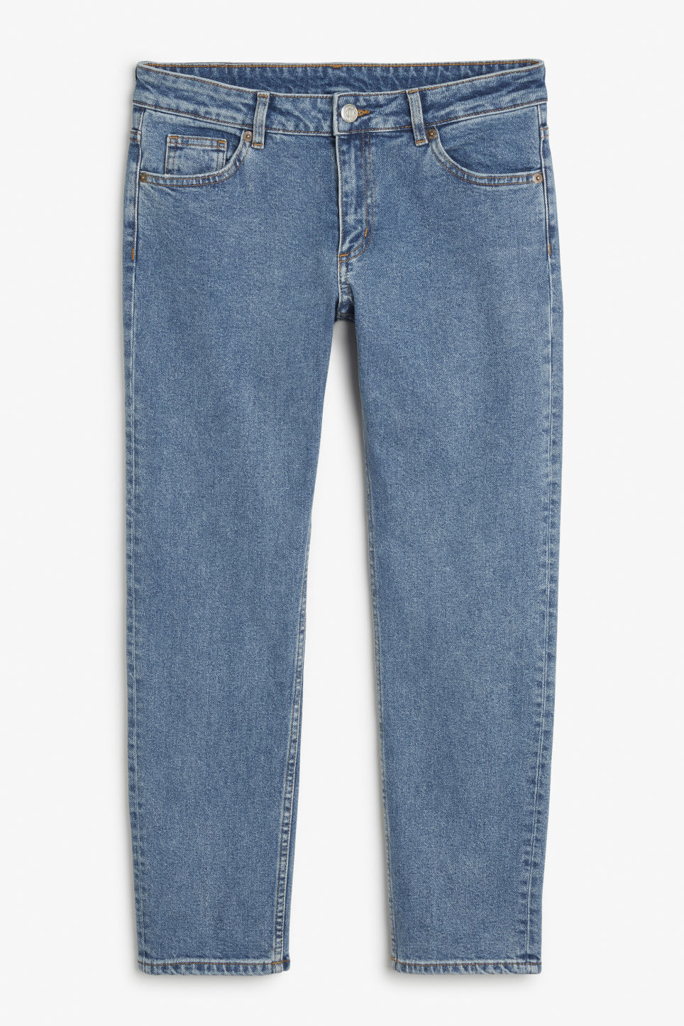 Front image of Monki monokomi jeans in blue