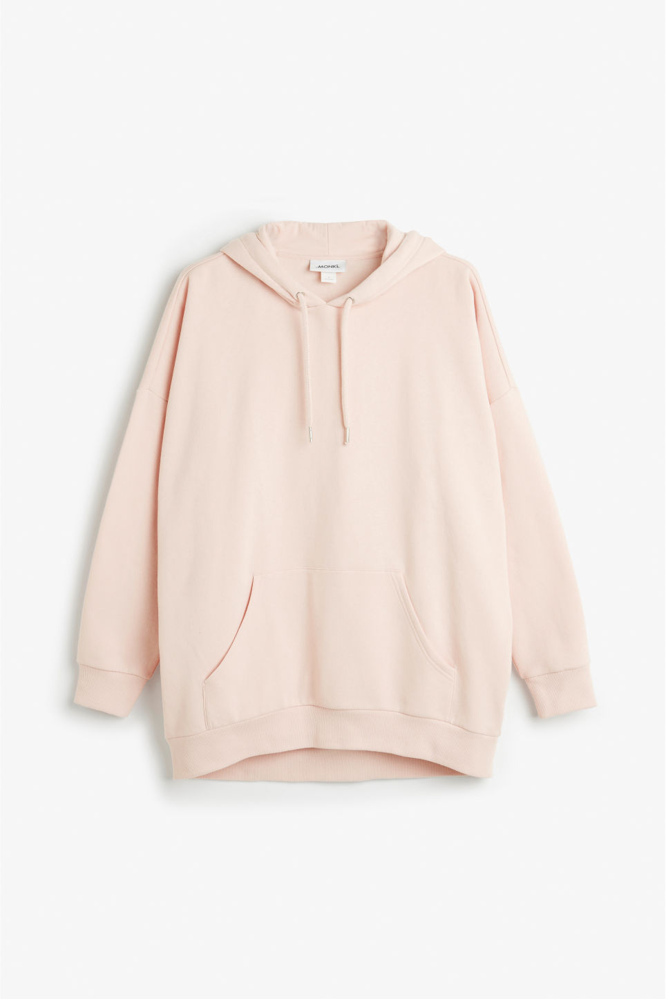 Front image of Monki oversize hoodie in orange