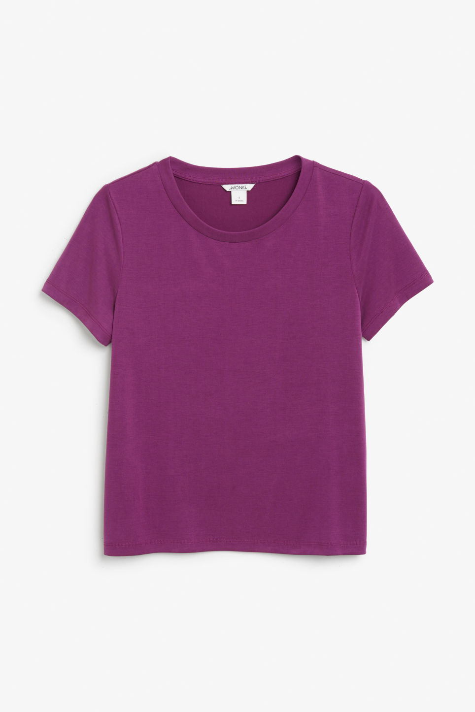 Front image of Monki super-soft tee in purple