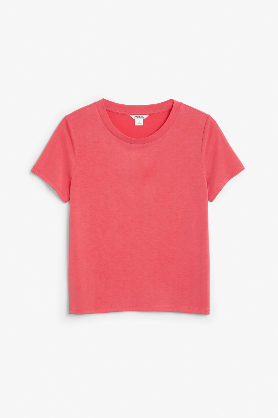 Front image of Monki super-soft tee in red
