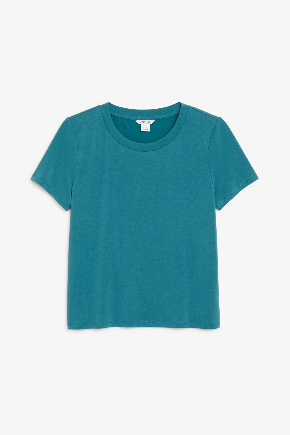 Front image of Monki super-soft tee in green