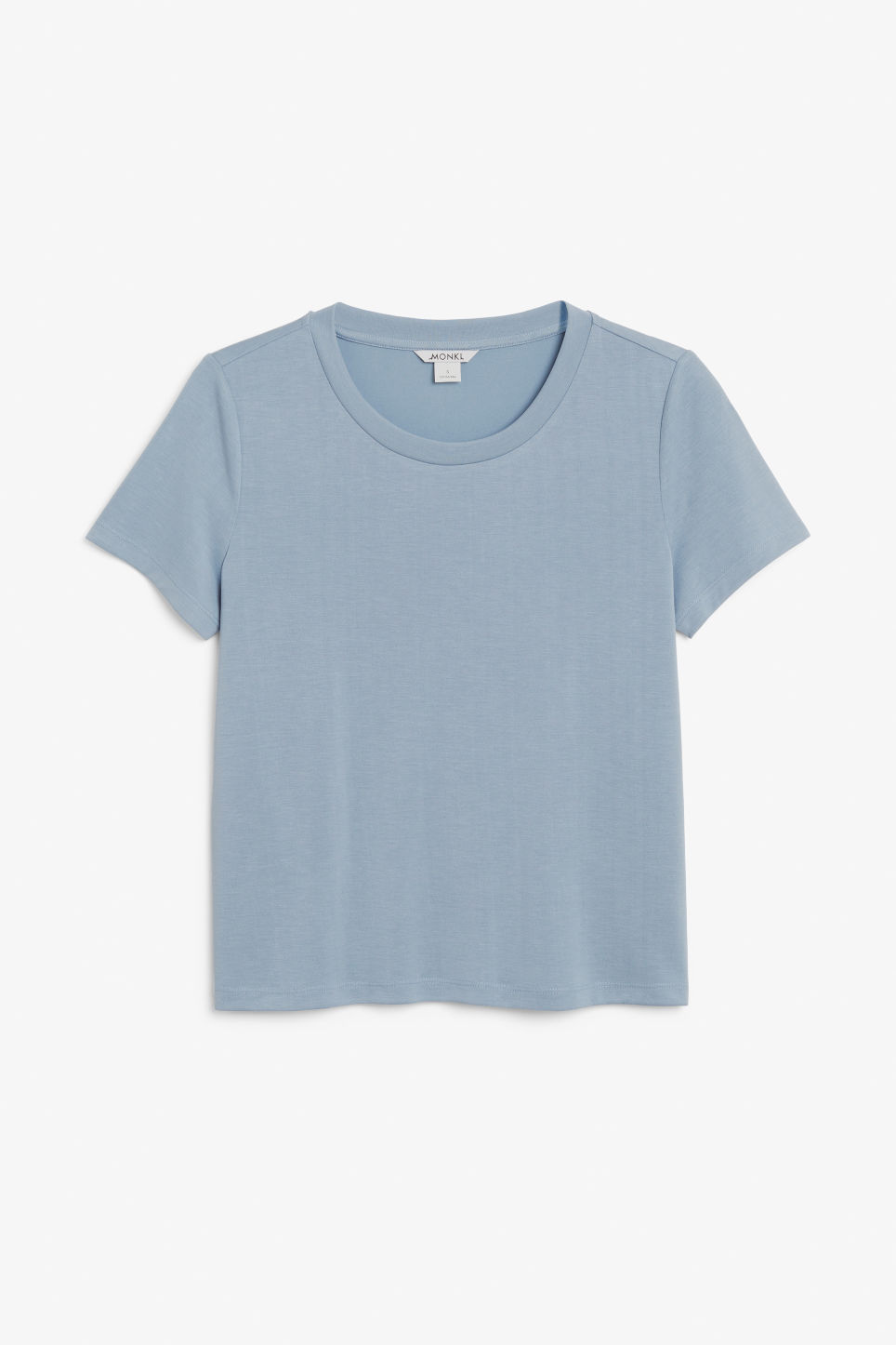 Front image of Monki super-soft tee in blue