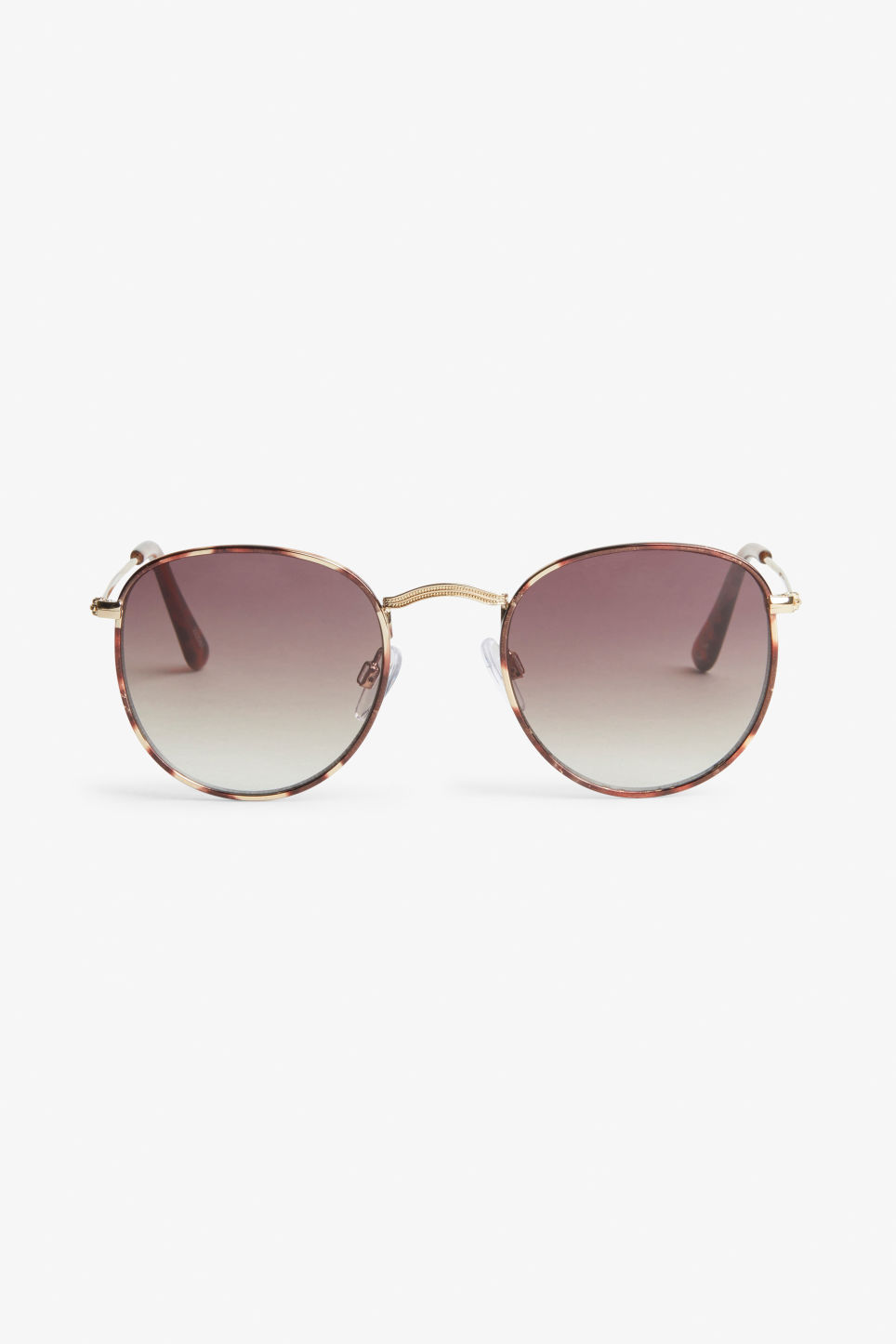 Front image of Monki pilot sunglasses in brown