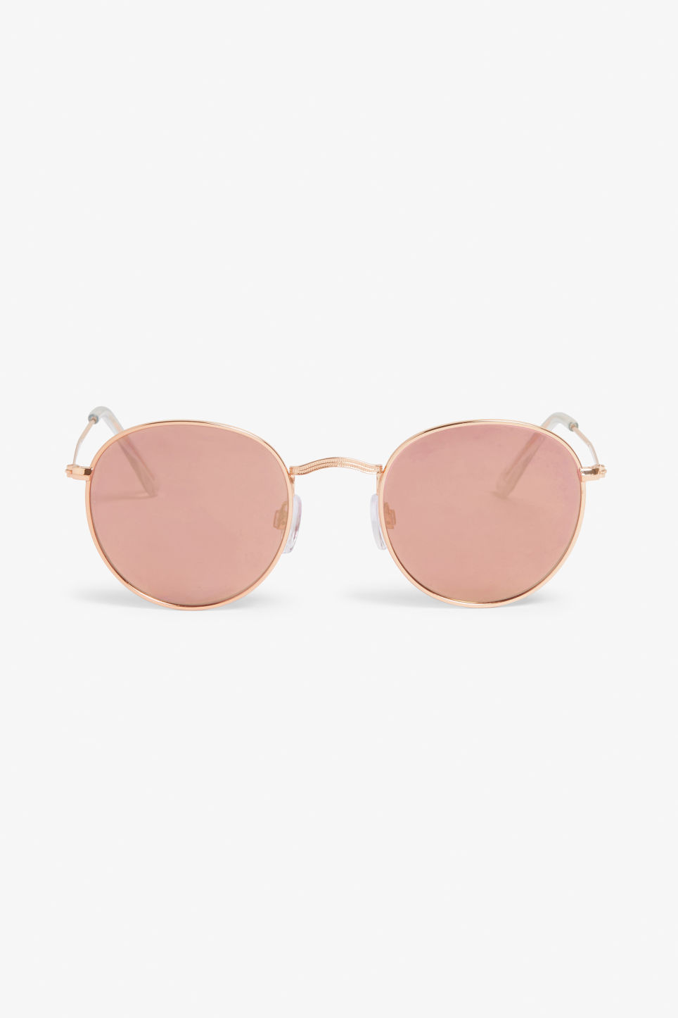 Front image of Monki pilot sunglasses in gold