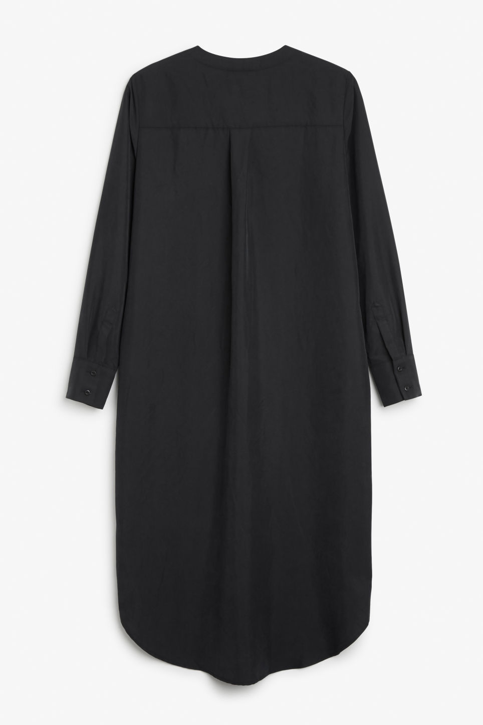 Back image of Monki long sleeve dress in black