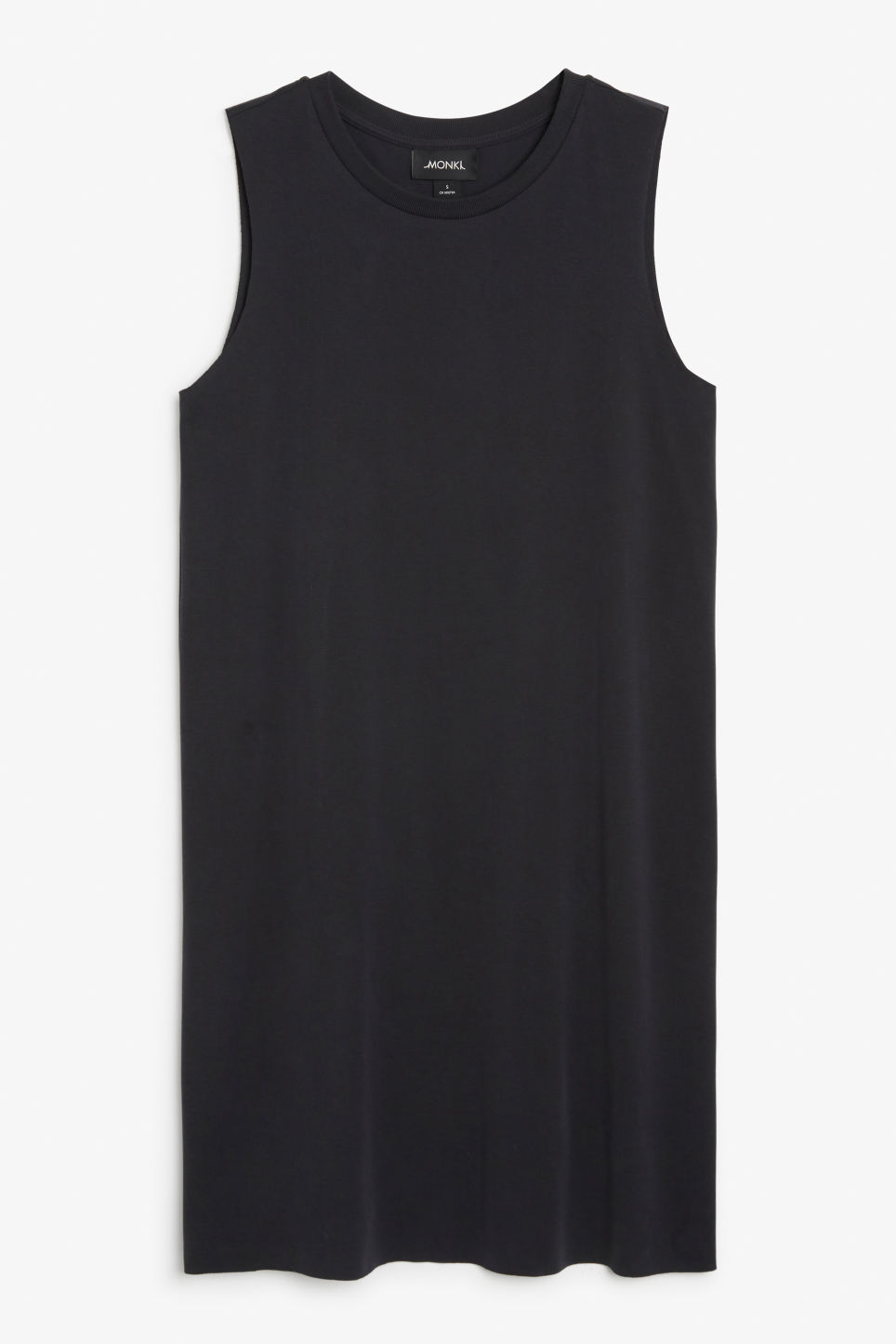 Front image of Monki basic super-soft dress in black