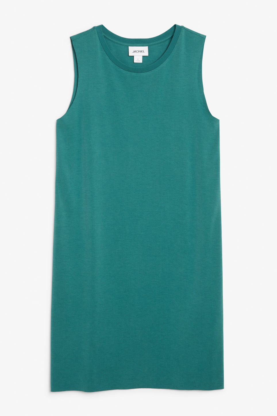 Front image of Monki basic super-soft dress in green