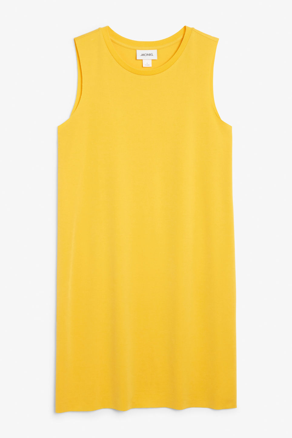 Front image of Monki basic super-soft dress in yellow