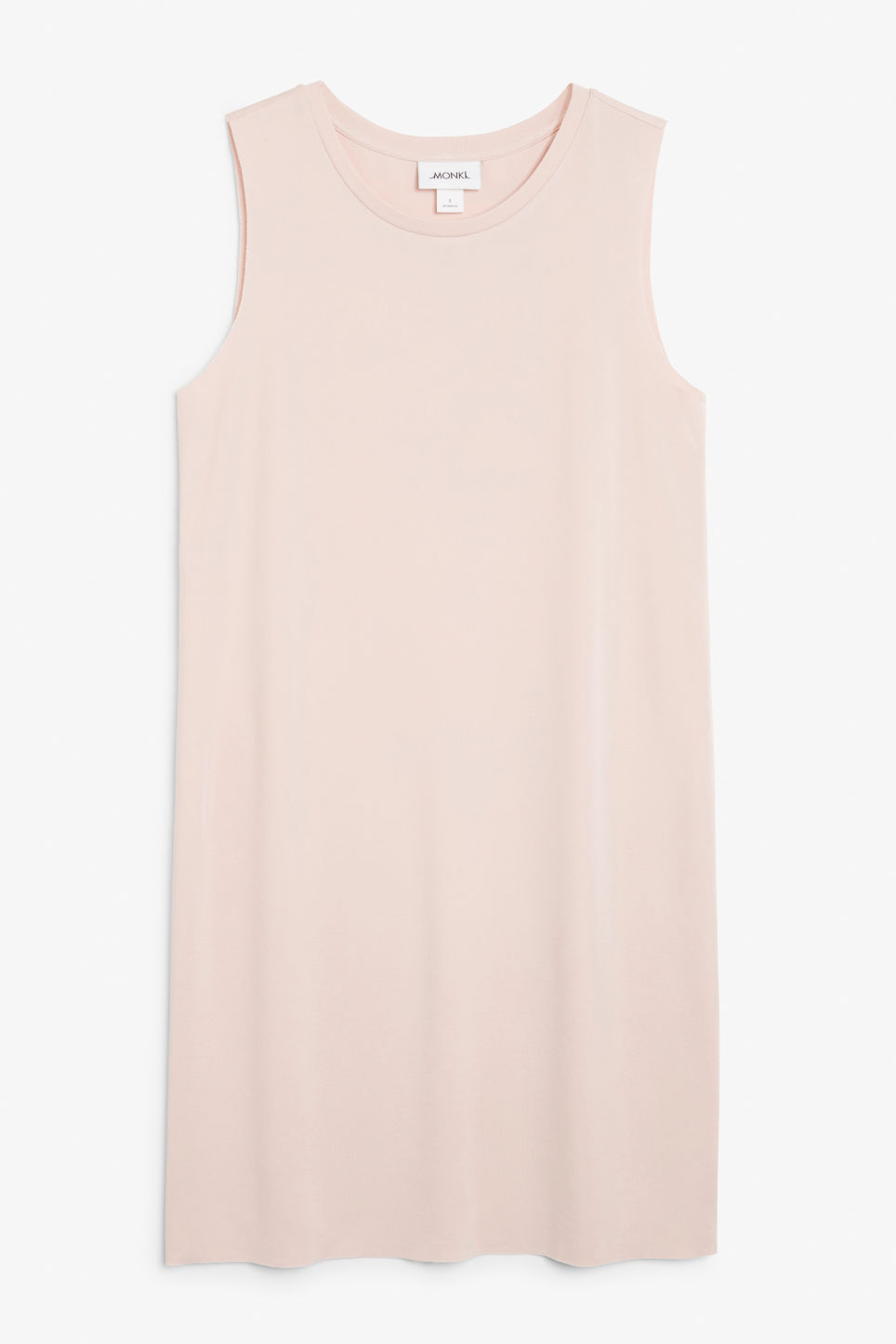 Front image of Monki basic super-soft dress in orange