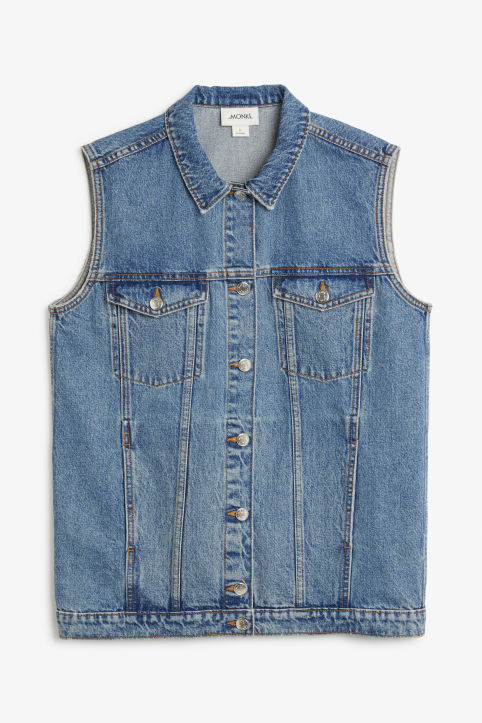 Denim vest jacket