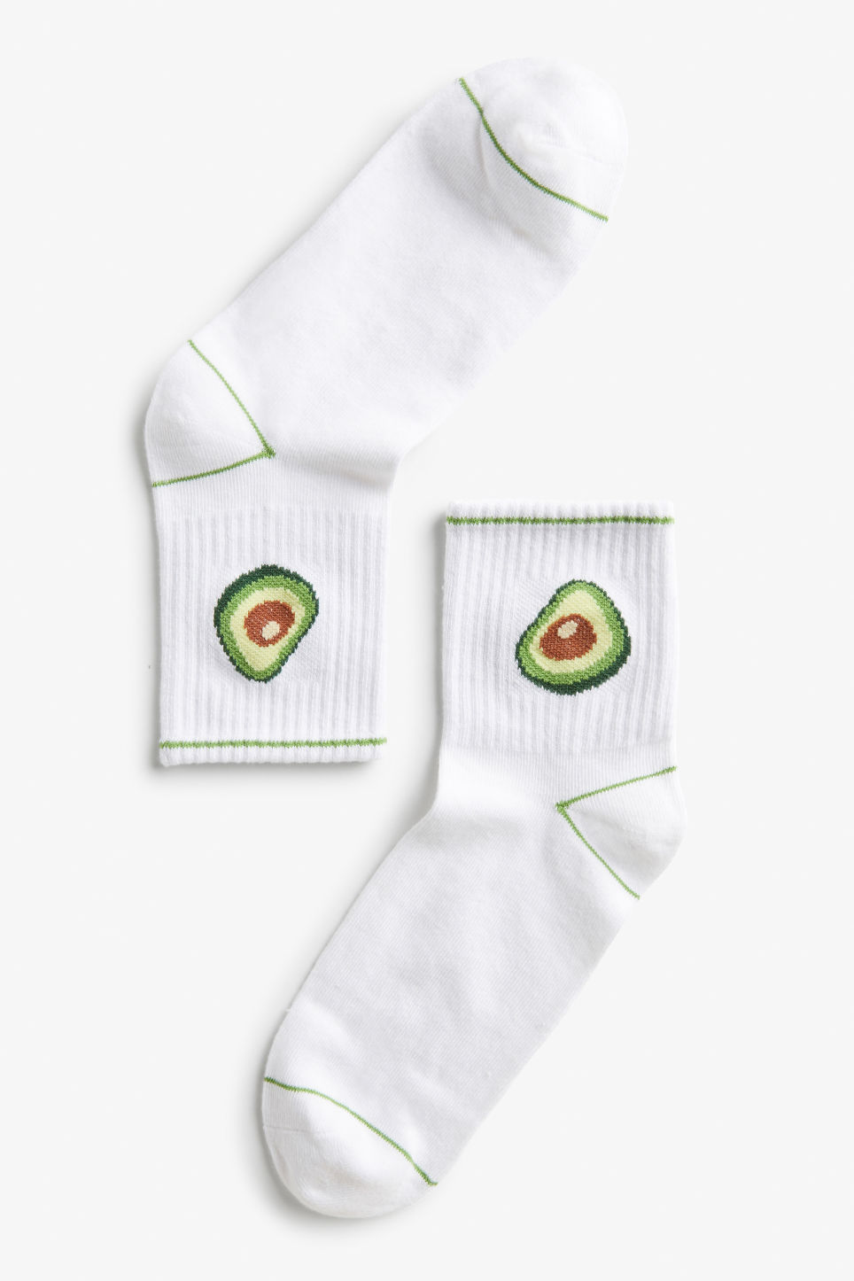 Front image of Monki sport sock in green