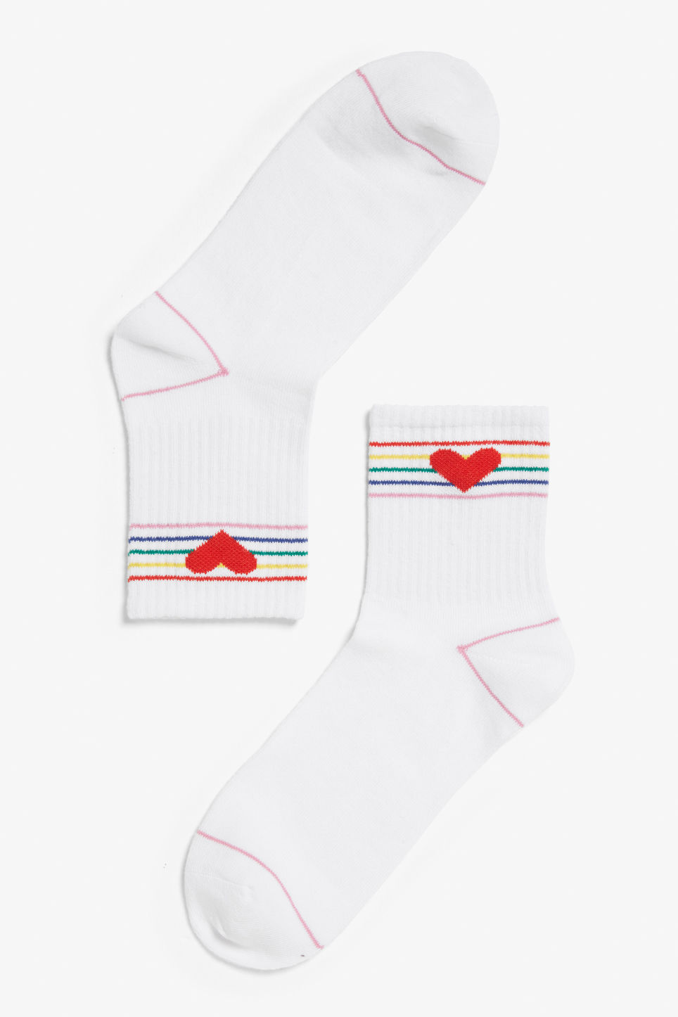 Front image of Monki sport sock in red