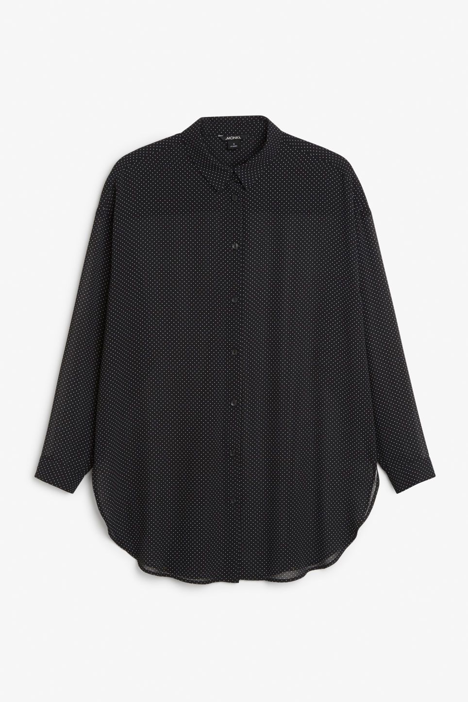 Front image of Monki long blouse in black