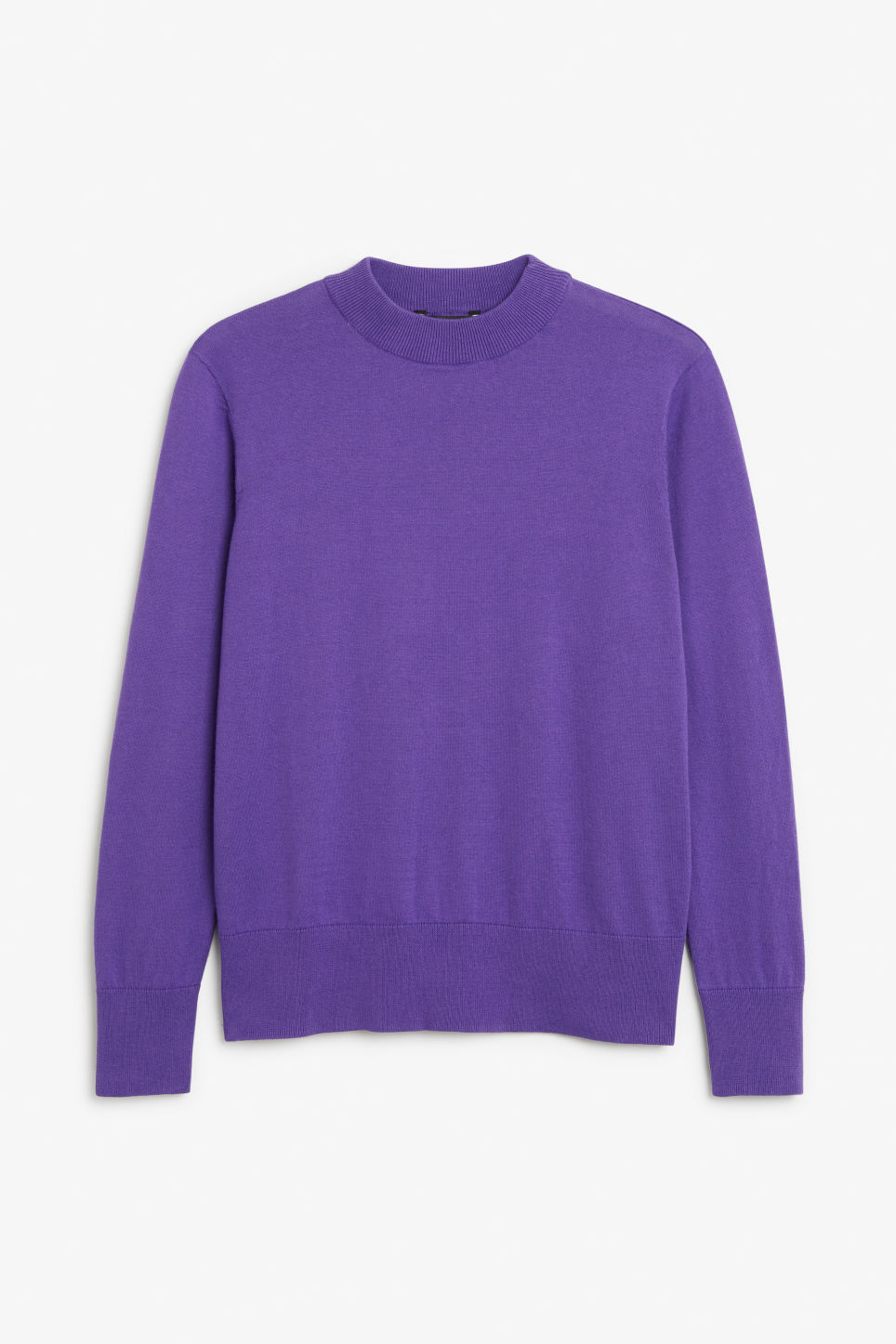 Front image of Monki soft knit sweater in purple