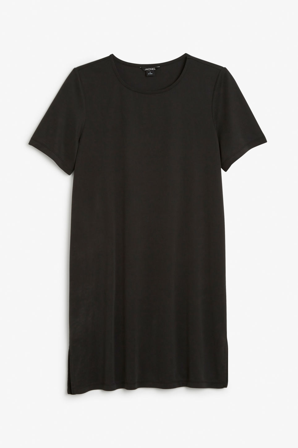 Front image of Monki t-shirt dress in black