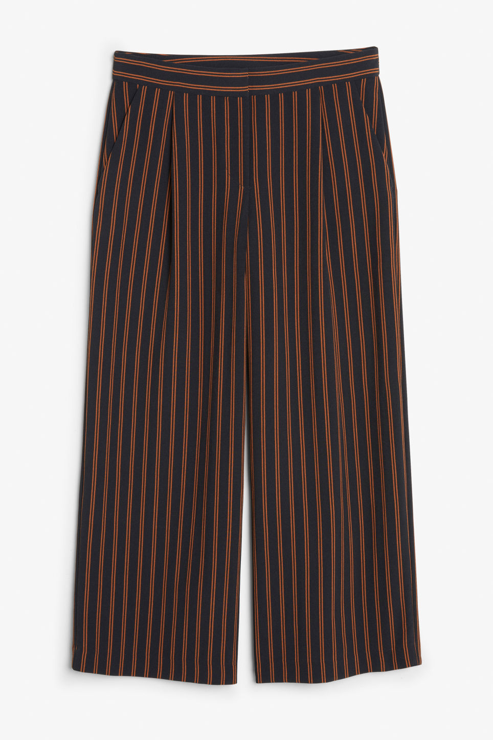 Front image of Monki flowy trousers in blue