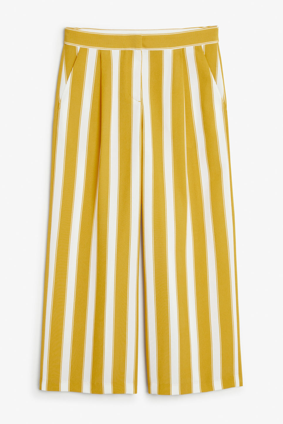 Front image of Monki flowy trousers in yellow