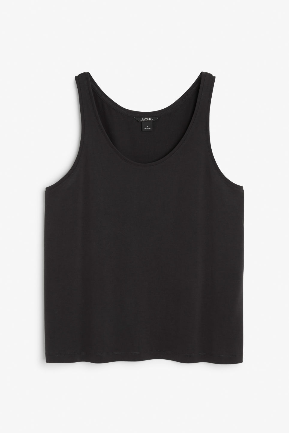 Front image of Monki soft singlet in black