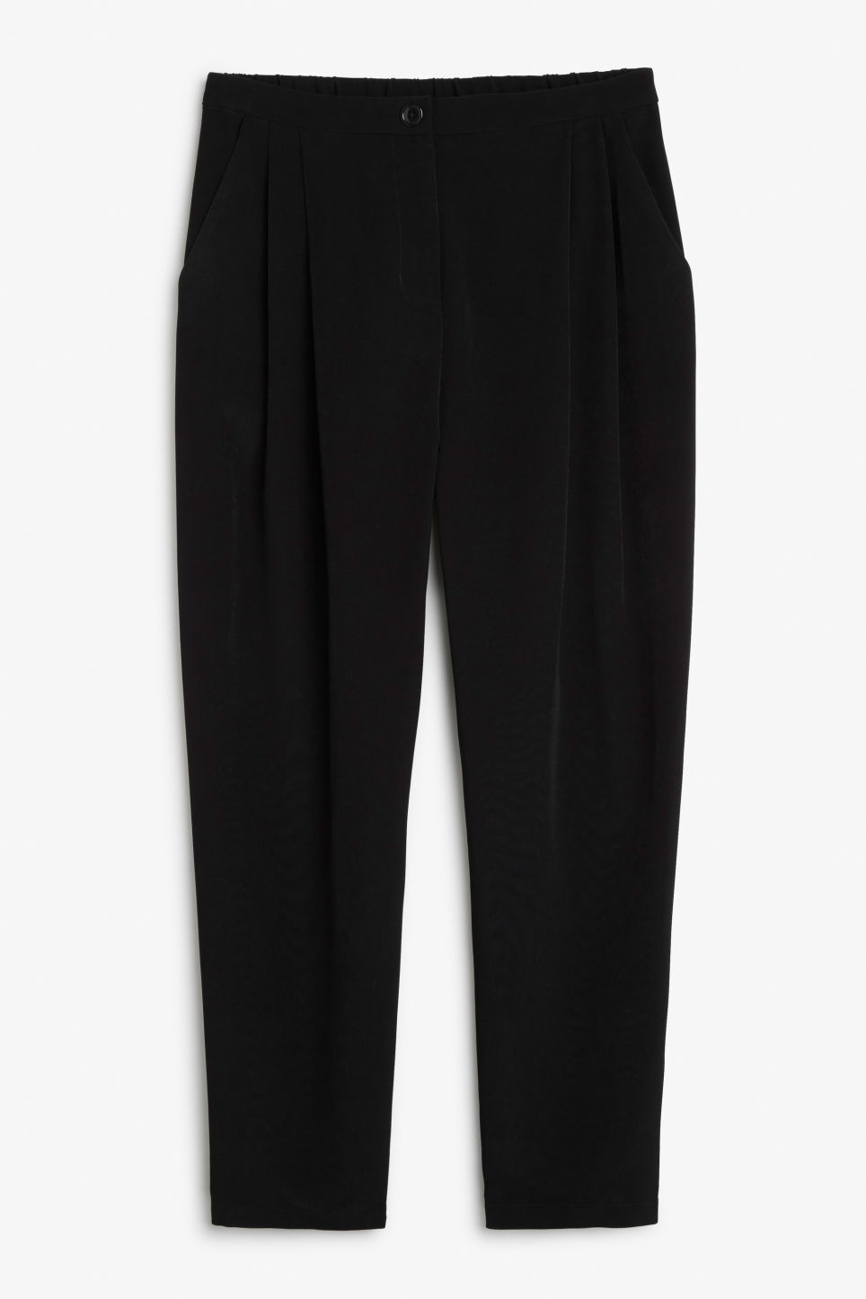 Front image of Monki fancy trousers in black