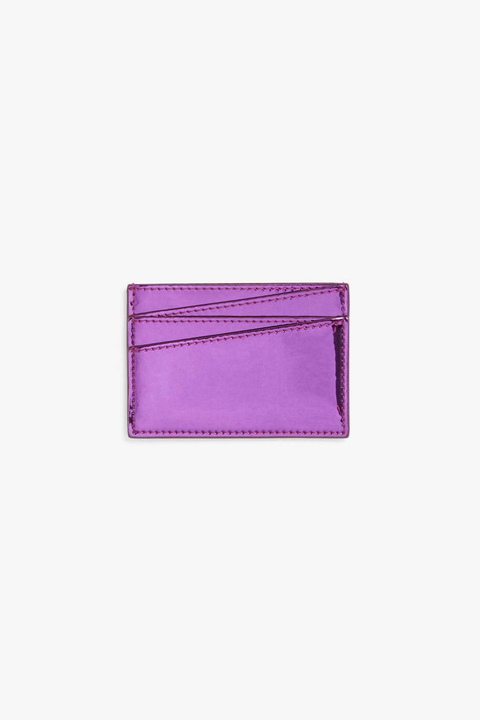 Front image of Monki card case in purple