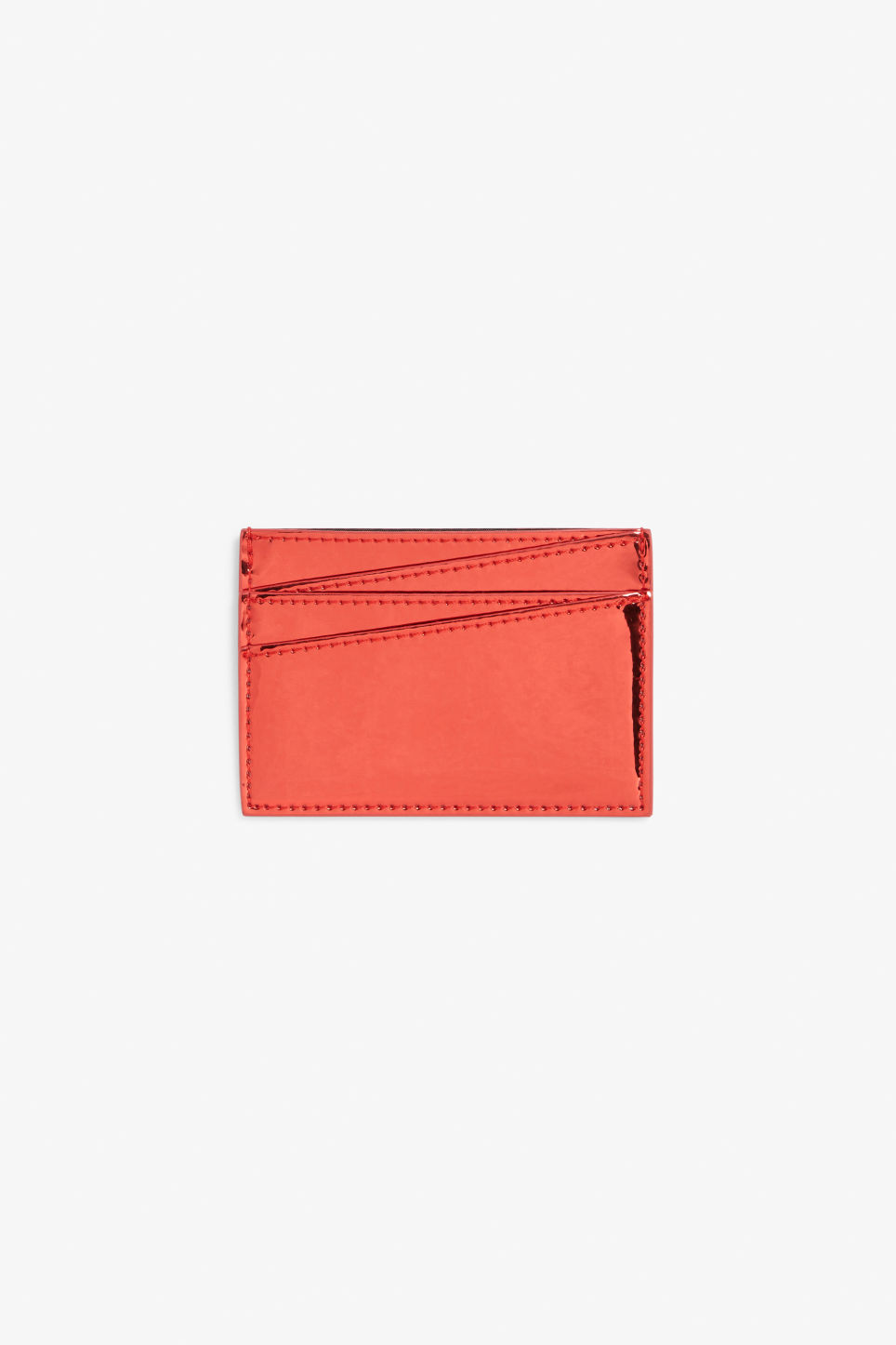 Front image of Monki card case in red