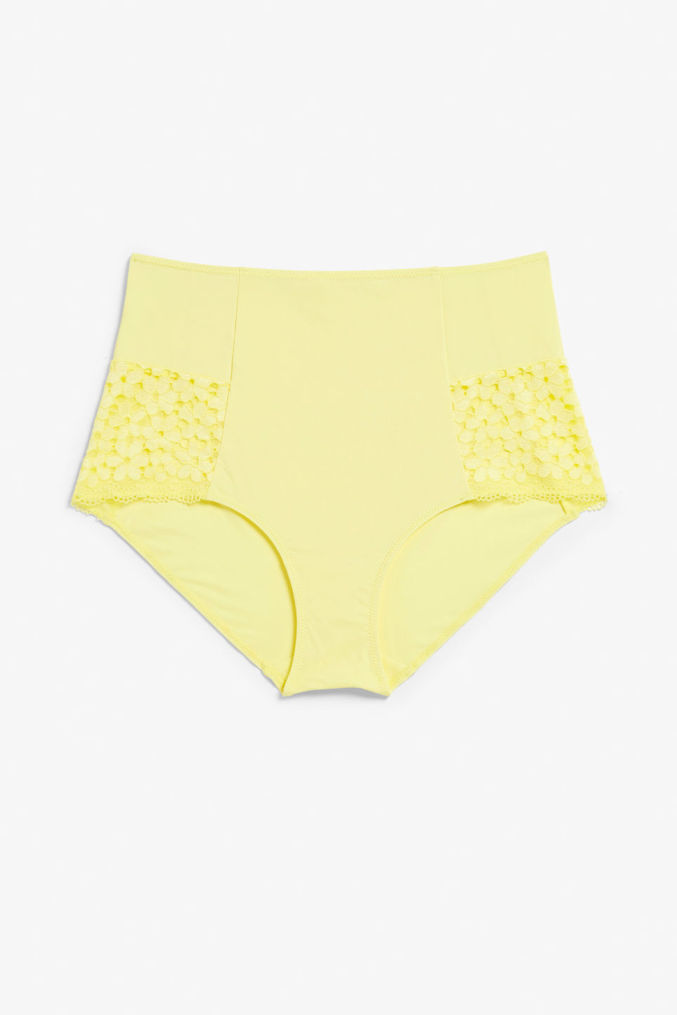 Front image of Monki highwaist briefs in yellow