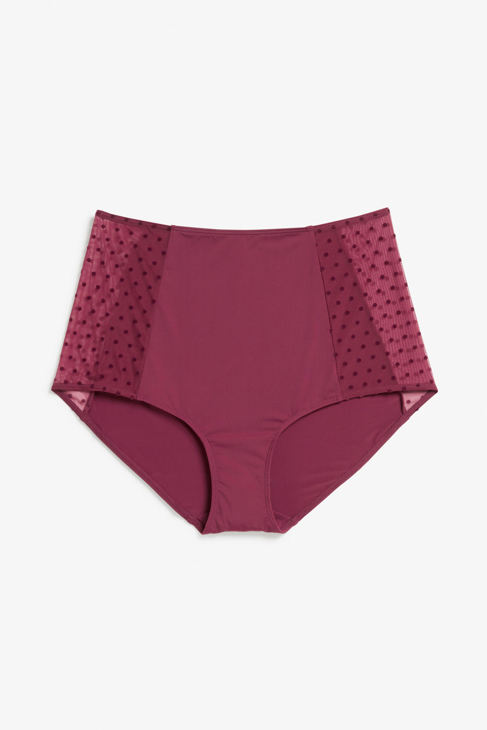 Front image of Monki high waist brief in red