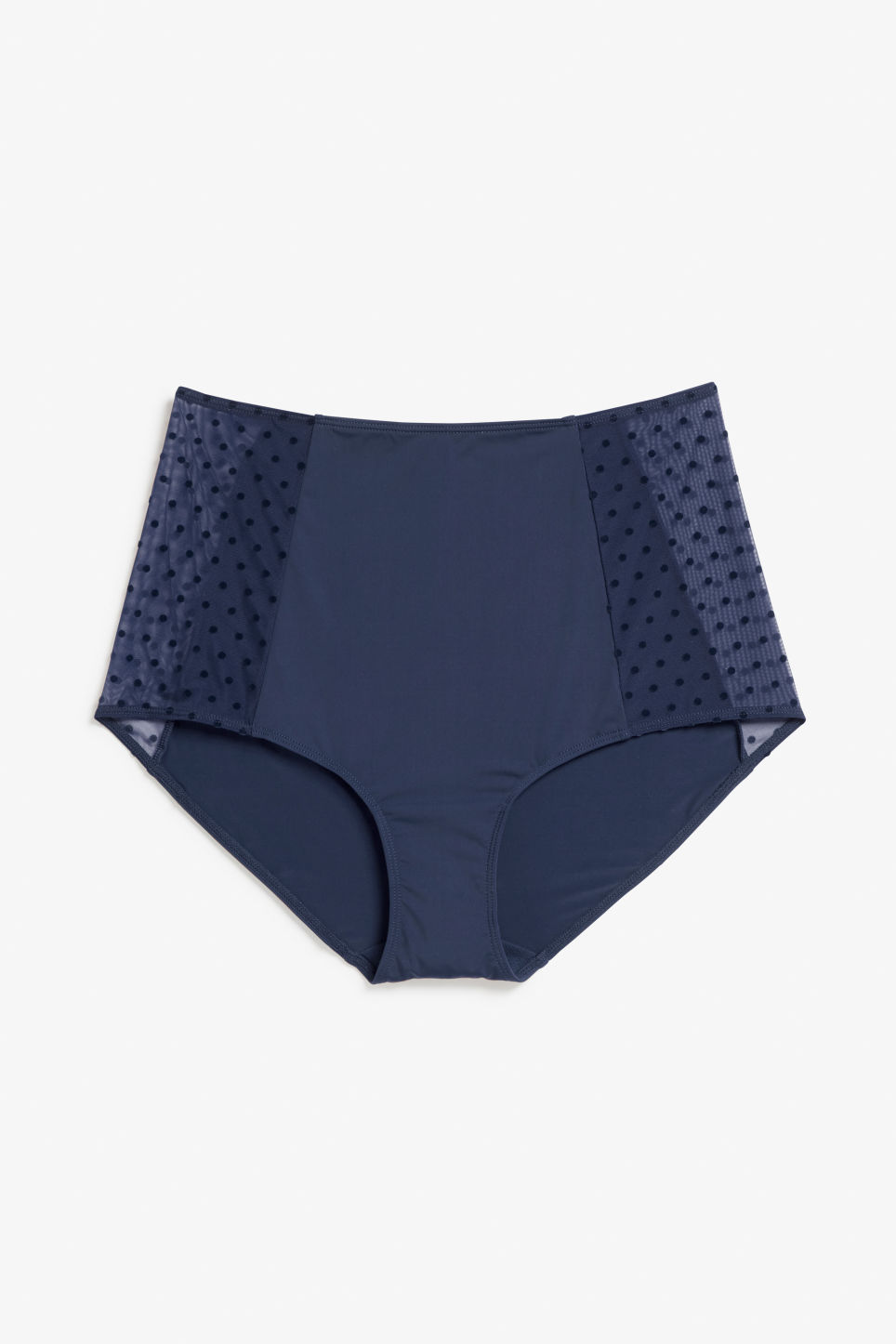 Front image of Monki high waist brief in blue