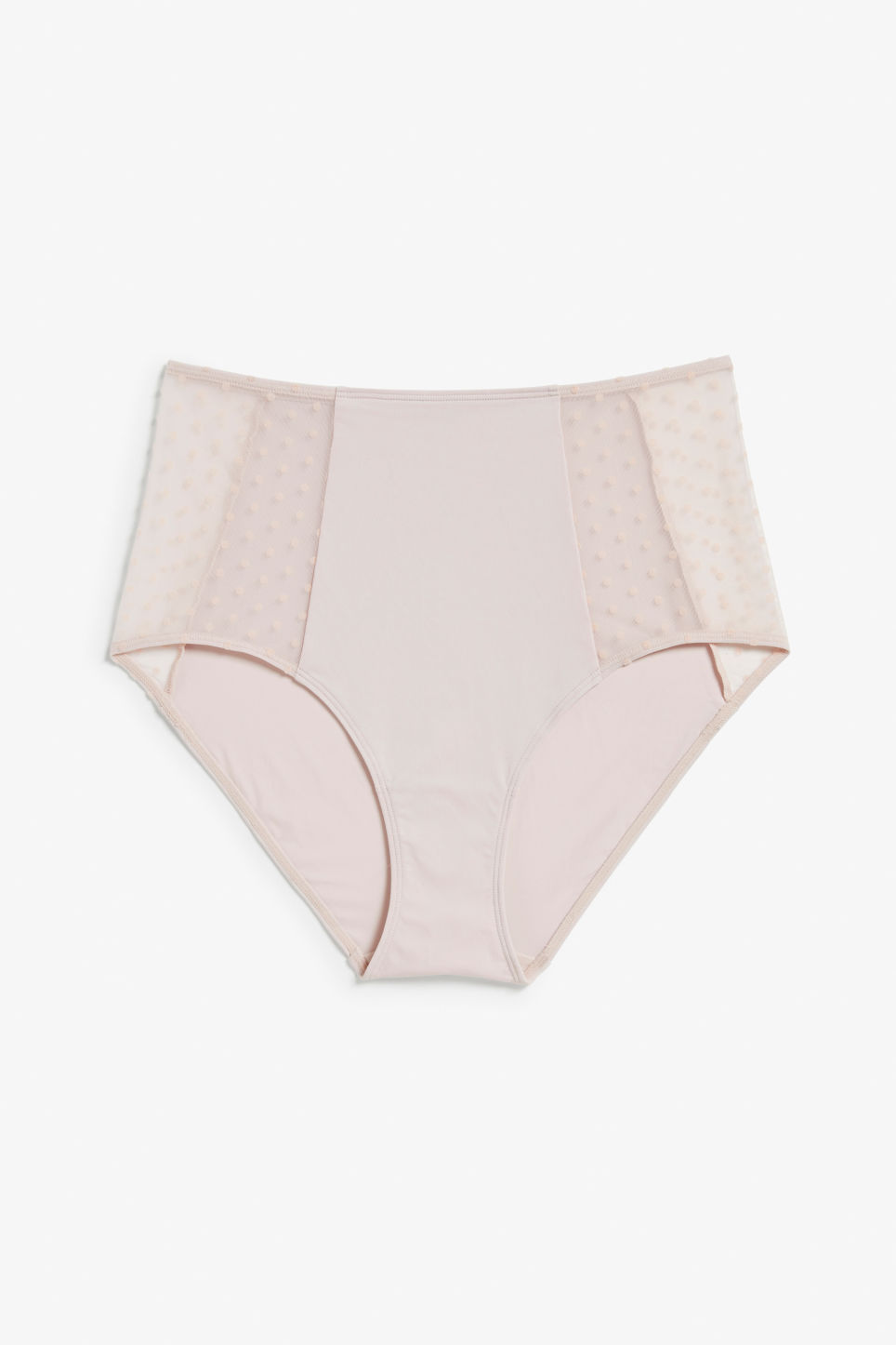 Front image of Monki high waist brief in pink