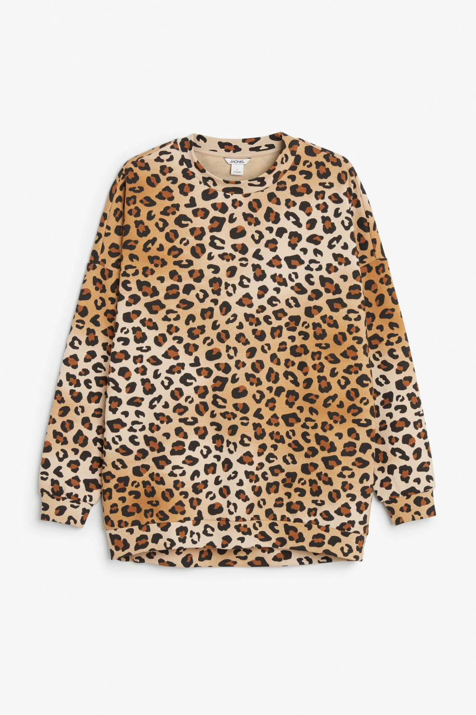 Front image of Monki oversize sweatshirt in beige