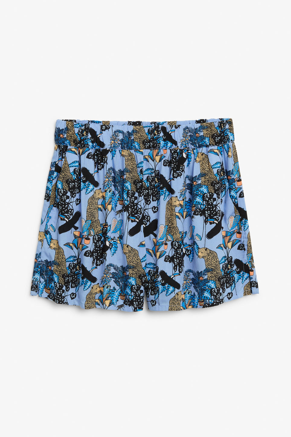 Front image of Monki loose fit shorts in blue