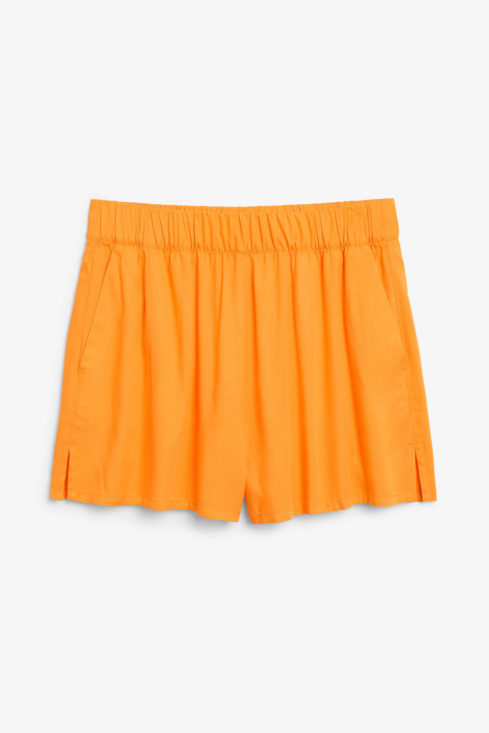 Front image of Monki loose fit shorts in orange