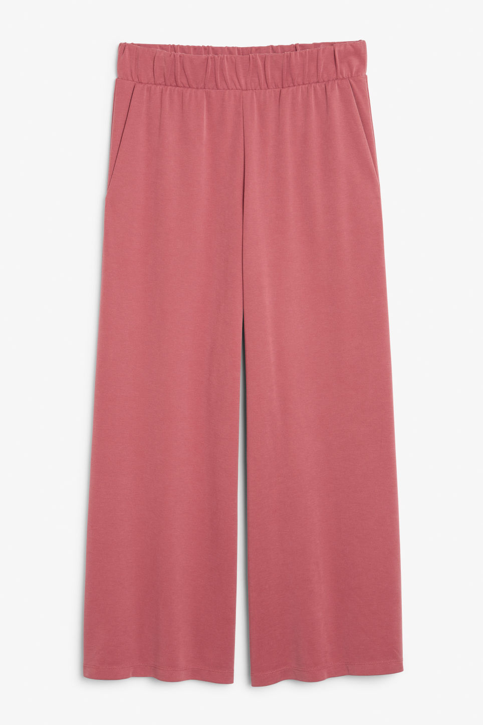 Front image of Monki super-soft trousers in orange