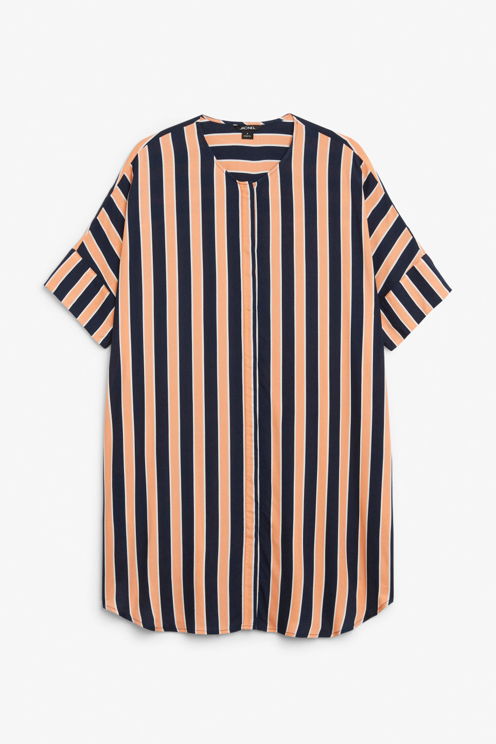 Front image of Monki oversized shirt dress in blue