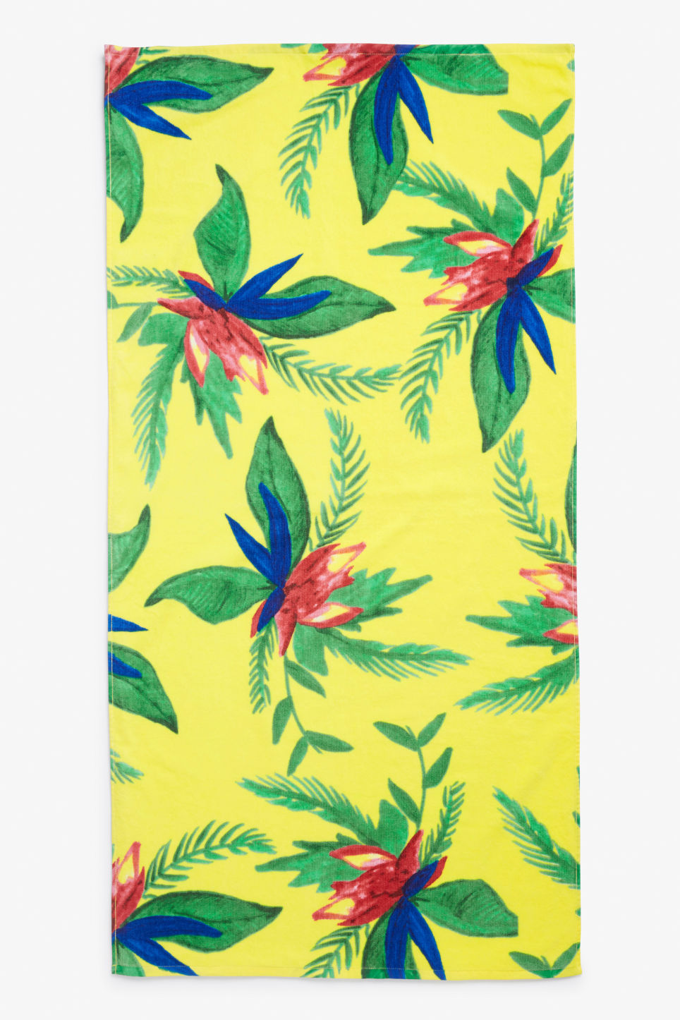 Front image of Monki beachy towel in yellow