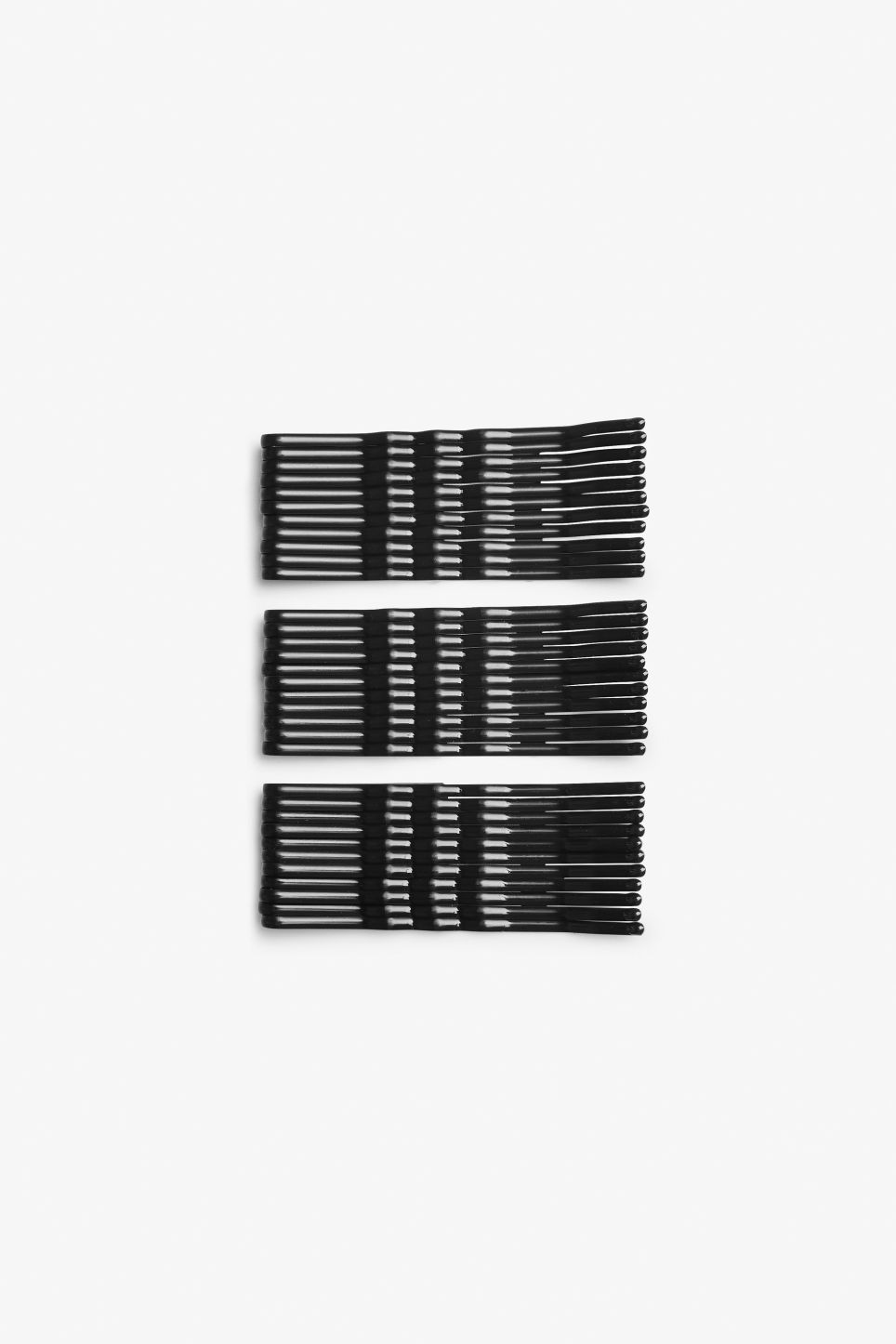 Front image of Monki monki hair pins in black