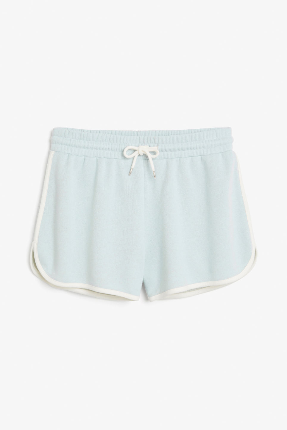 Front image of Monki gym shorts in blue