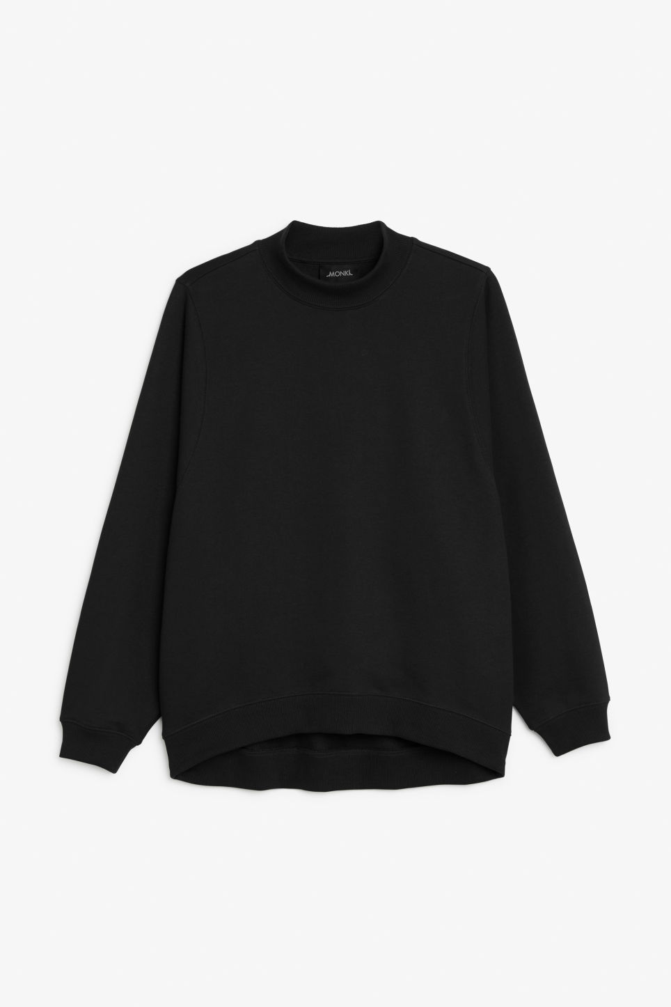 Front image of Monki loose-fit sweater in black
