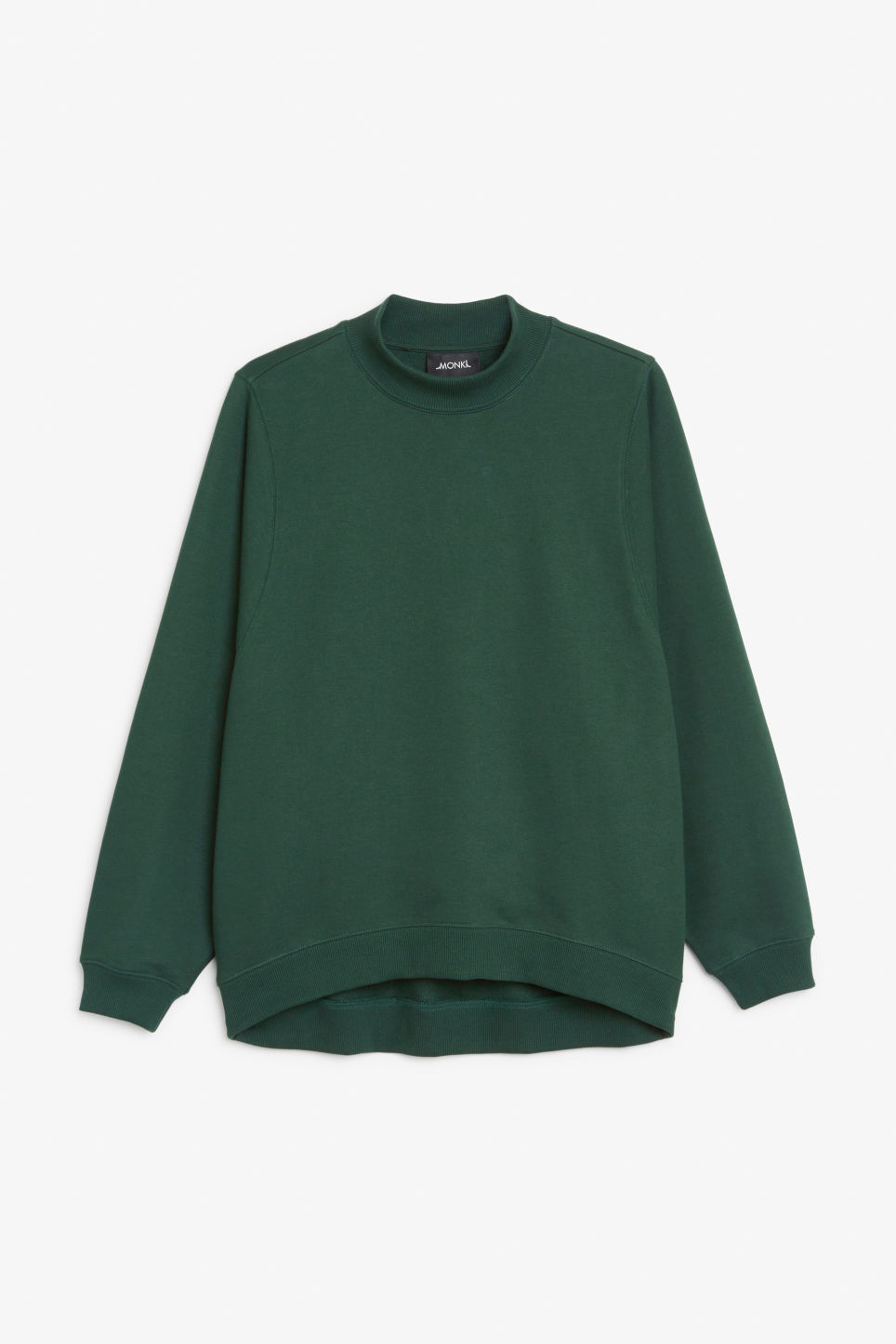 Front image of Monki loose-fit sweater in green